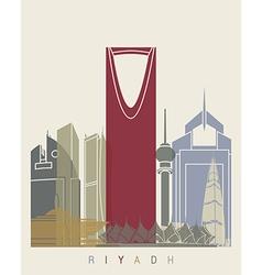 Riyadh skyline poster vector