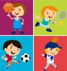 sport kids vector image vector image