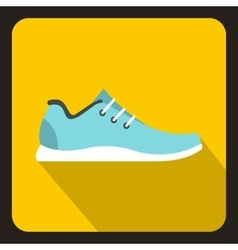 Sport sneakers icon flat style vector image vector image