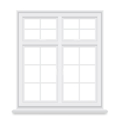 traditional white window isolated vector image