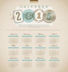 Vintage calendar 2015 vector image vector image