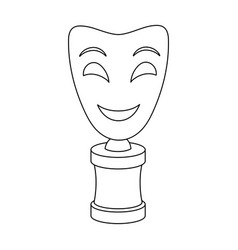 White mask mime on the standthe prize for best vector
