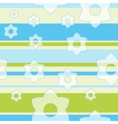 Spring Flower Pattern Background vector image