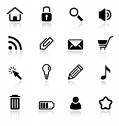 Simple web icons vector