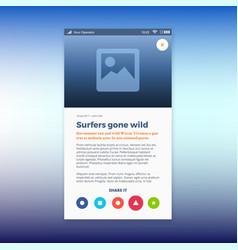 Reporting news ui app design vector