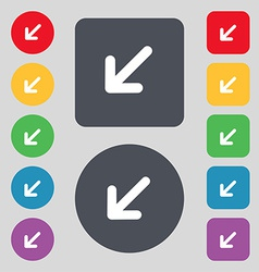 Turn to full screenicon sign a set of 12 colored vector