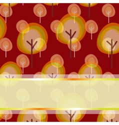 Autumn greeting background vector