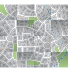 Paper city map vector