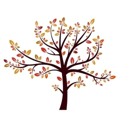 Tree autumn sign vector