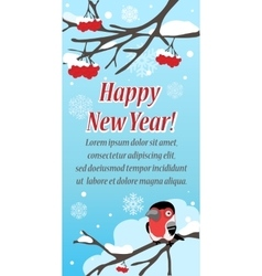 Stylish festive greeting card with bird vector