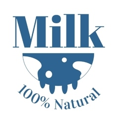 Milk cow logo badge template some nature vector