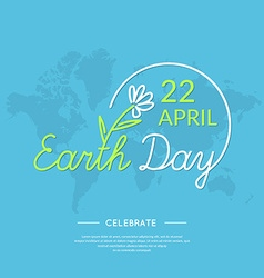 Linear logo earth day vector
