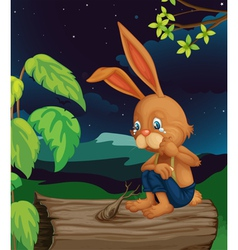 Crying rabbit vector