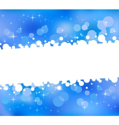 Blue abstract bokeh background vector