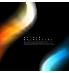 Abstract colorful background Color wave vector image
