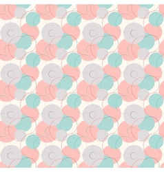 Abstract geometric line and round seamless pattern vector image