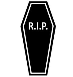 Coffin rip icon vector
