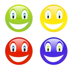Color smile vector image