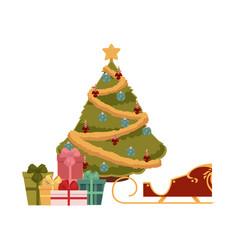 flat christmas symbols set vector image