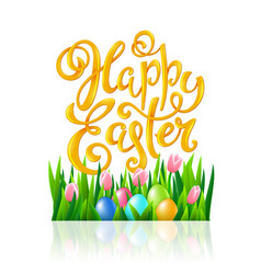happy easter poster vector image