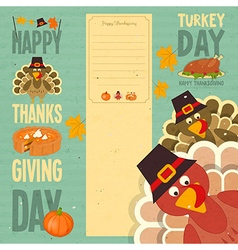 Happy Thanksgiving card vector image vector image