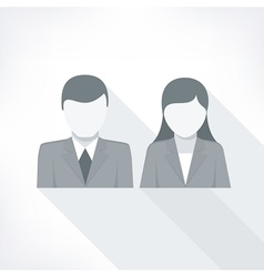 Human faces on white vector image vector image