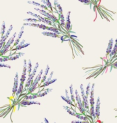 Lavender seamless pattern - handdrawn style vector image vector image