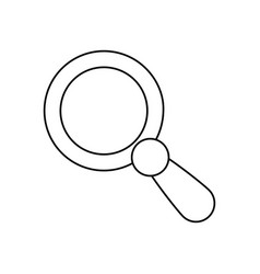 Line magnifying glass icon design vector