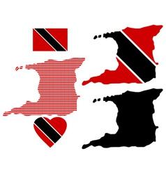 Map of the Republic of Trinidad and Tobago vector image