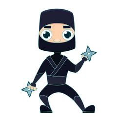 Ninja warrior man vector
