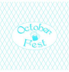 oktoberfest german beer festival vector image vector image