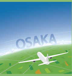 Osaka flight destination vector