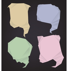 polygonal speech bubbles vector image