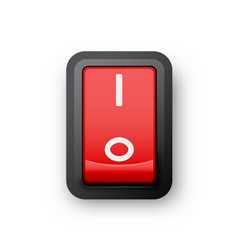 red pc electric switch vector image vector image