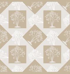 Seamless background autumn trees vector