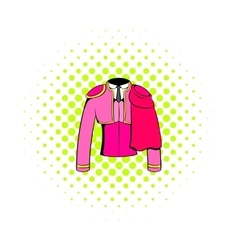 Spanish torero jacket icon comics style vector image