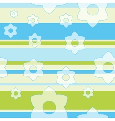 Spring Flower Pattern Background vector image