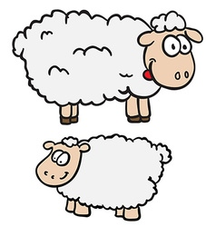 two sheep vector image vector image