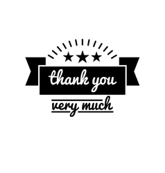 Thank you vintage badge label vector image
