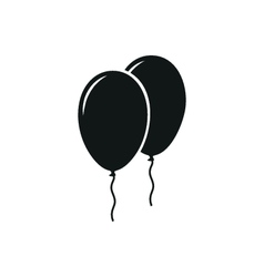 Simple black icon of two balloons on white vector