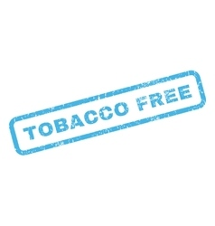 Tobacco free rubber stamp vector
