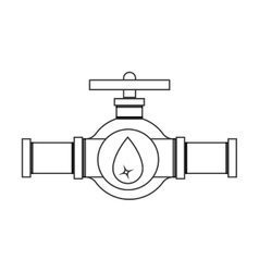 Silhouette with valve oil view front vector