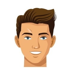 Head man smile avatar virtual reality icon vector