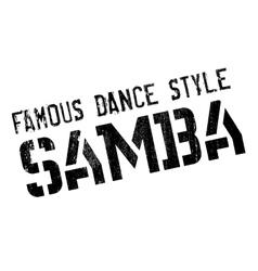 Famous dance style samba stamp vector
