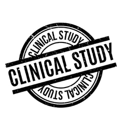 Clinical study rubber stamp vector