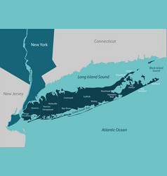 Map of long island vector