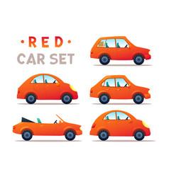 City cars set vector