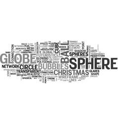 Sphere word cloud concept vector
