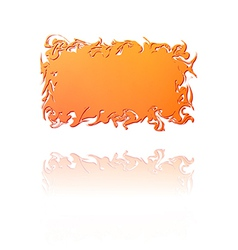 Orange gradient twisted label vector
