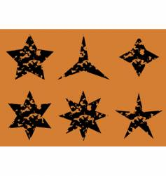 Stars set on orange background vector